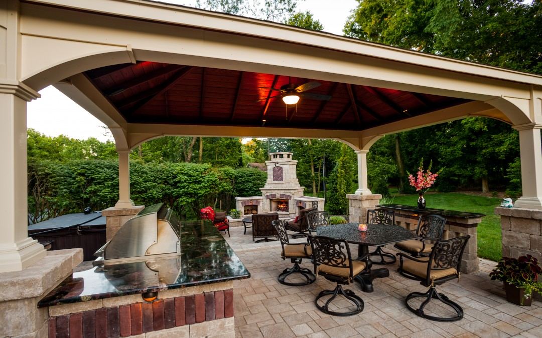 Pool Features New Cumberland & Harrisburg | PA Landscape ... on Backyard Dining Area Ideas id=39478