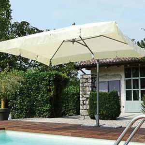 Side pole parasol with valances California