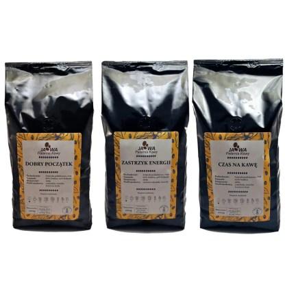 Trzy Mieszanki Zestaw Kawy ziarnistej dla Firm