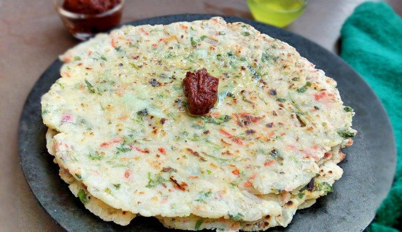 Masala Akki Roti   Rice Flour Roti