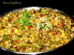 French _Beans_Egg Bhurji