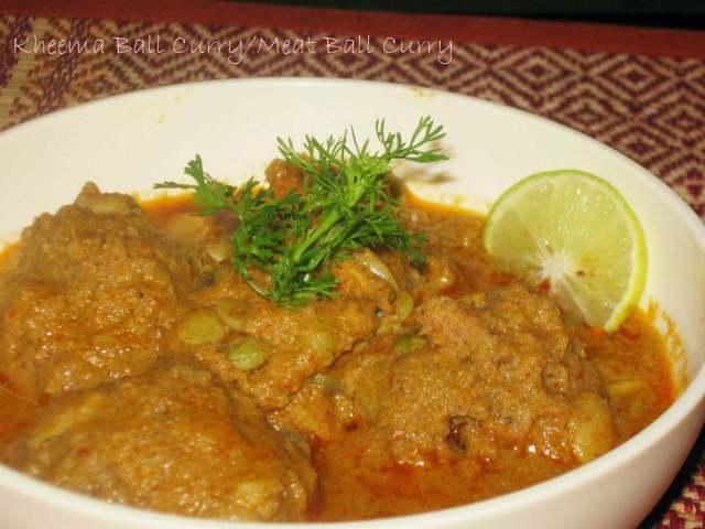 Kheema Ball Curry / MeatBall Curry