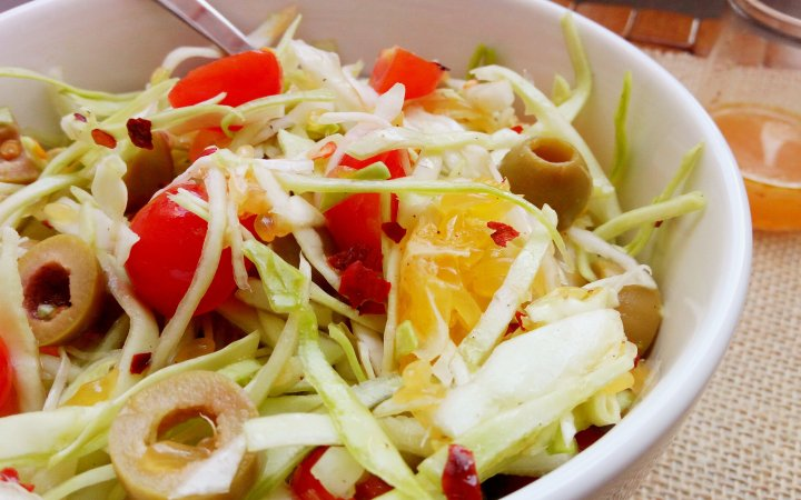 Sicilian Cabbage Orange Salad