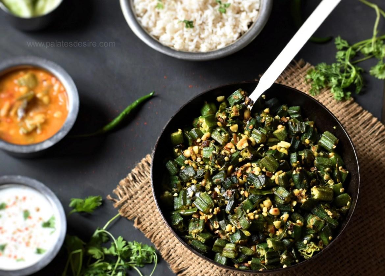 Moongphali Bhindi   Peanut Okra Stir fry