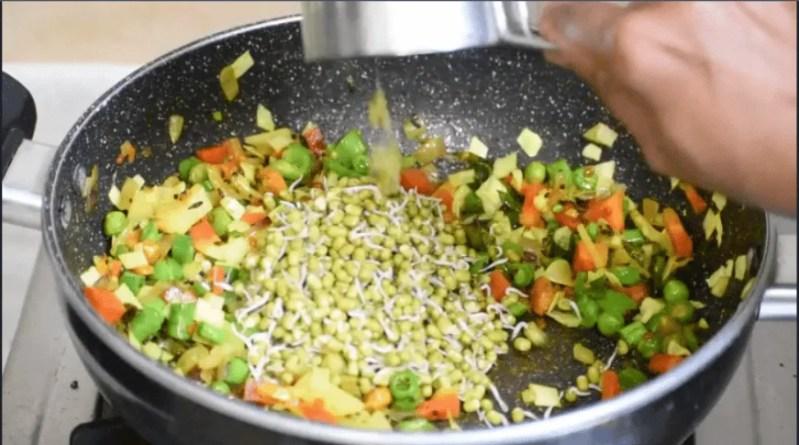 Vegetable Poha   Diet Poha Recipe