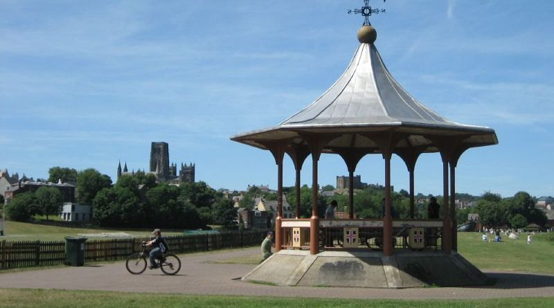 Widespread condemnation at swastika graffiti by Durham bandstand