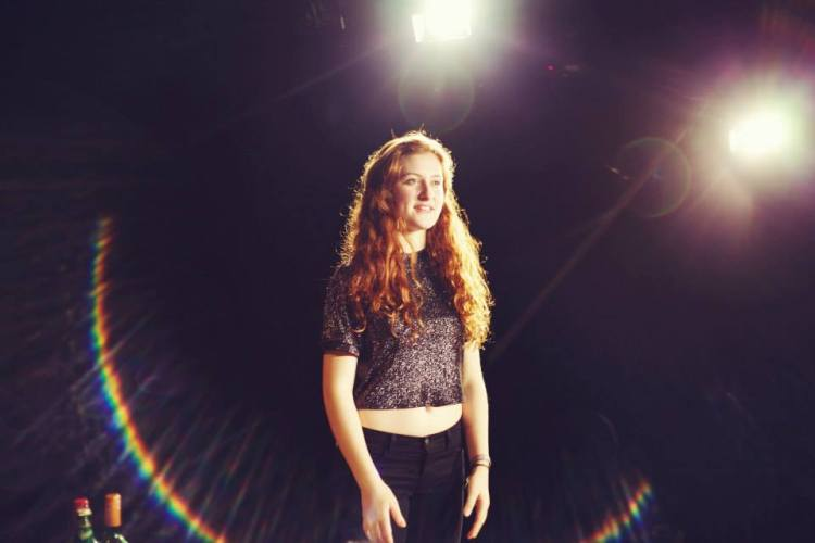 Claire Forster in 'Congestion'. 'Congestion' is a verbatim piece, and was part of the Durham Drama Festival 2015, and was subsequently chosen to be part of the National Student Drama Festival.
