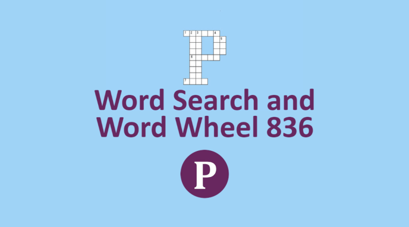 Word Search and Word Wheel 836