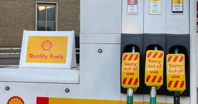 A Shell petrol station in Belgravia, London, with no fuel. Taken during 2021 UK fuel shortages.