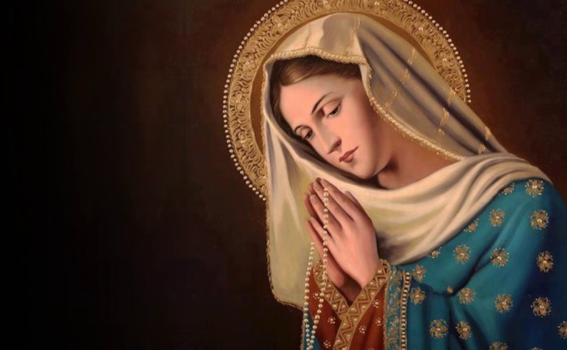 Terço pedindo a Nossa Senhora: Rogai por nós