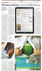 Matéria sobre expansão do mercado editorial virtual para o Caderno C, do A Cidade, do qual era editora (13/5/2012)