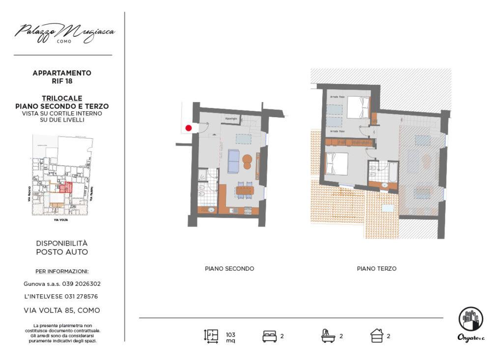 Consiglio cucina e soggiorno 18mq. Appartamenti Como Palazzo Mugiasca