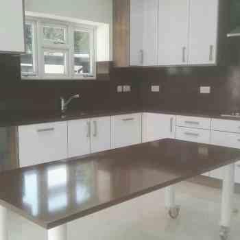 kitchen brown quartz worktops