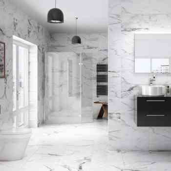marble worktops and floors