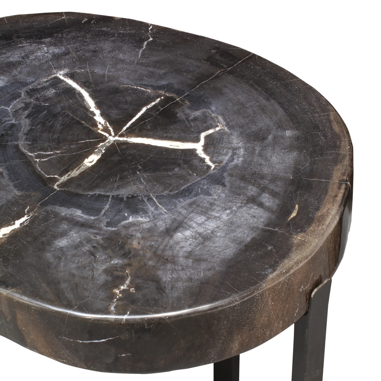 Small Wood Dark Table Side