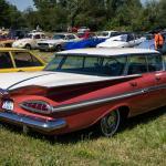 1959 Chevrolet Impala Hardtop Sport Sedan Rear View Post War Paledog Photo Collection