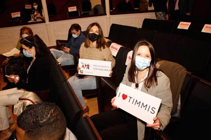 Emprendedoras en el acto de TIMMIS Palencia en el Teatro Principal