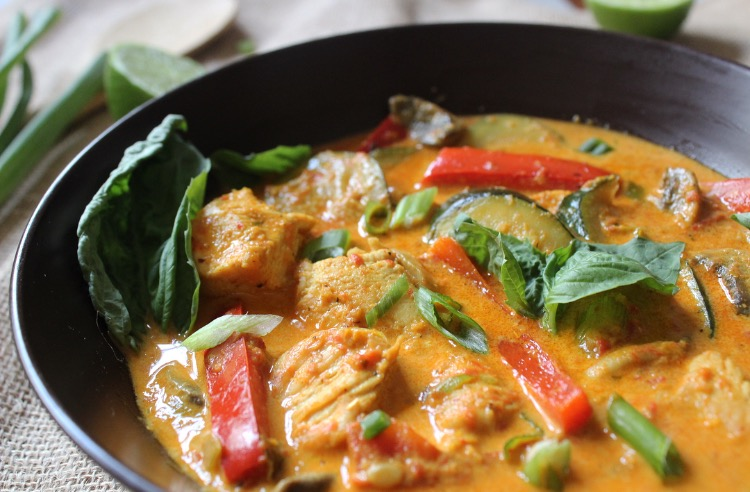 One Pan Chicken and Lemongrass Coconut Curry