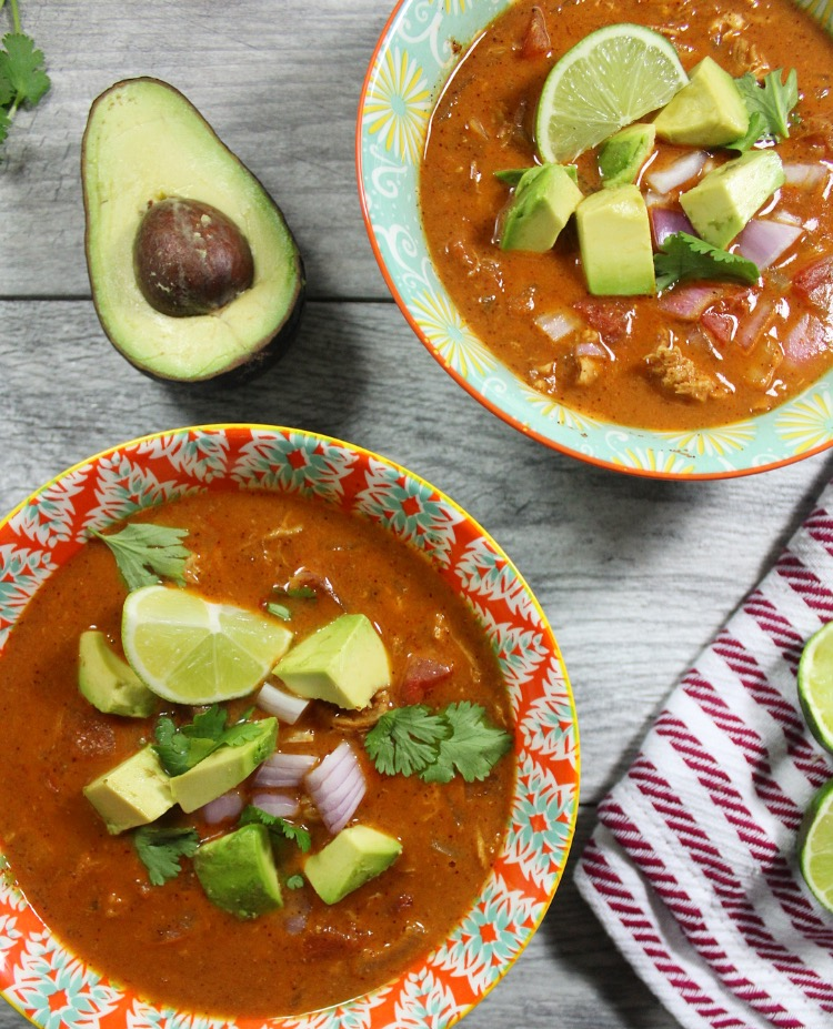 paleo chicken taco soup