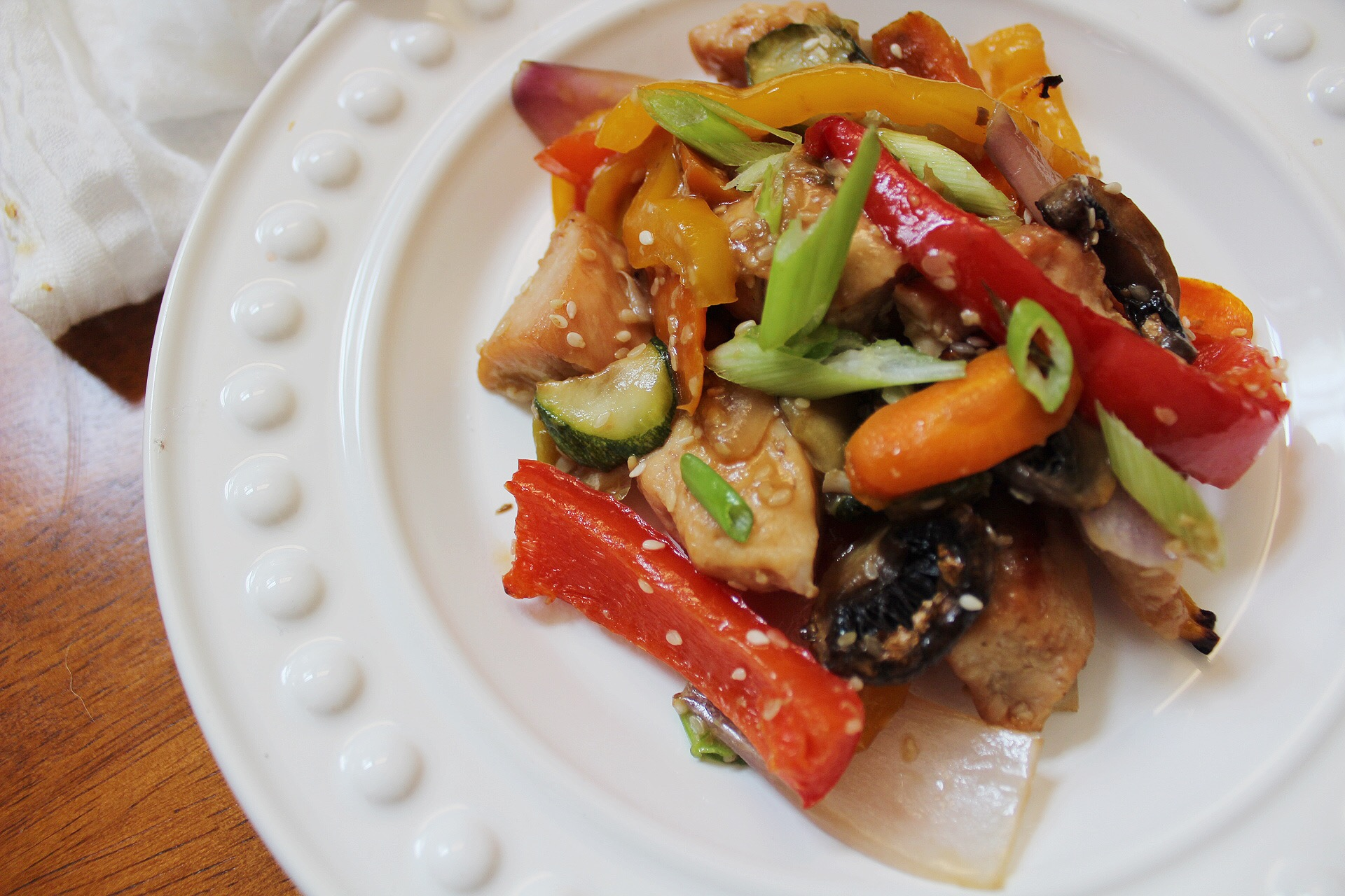 Sheet Pan Chicken Stir Fry: Paleo & Whole30 30 Minute Meal