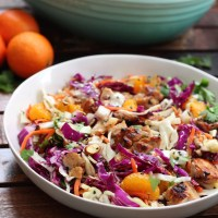 Healthy Sesame Chicken Chopped Salad: Paleo & Whole30