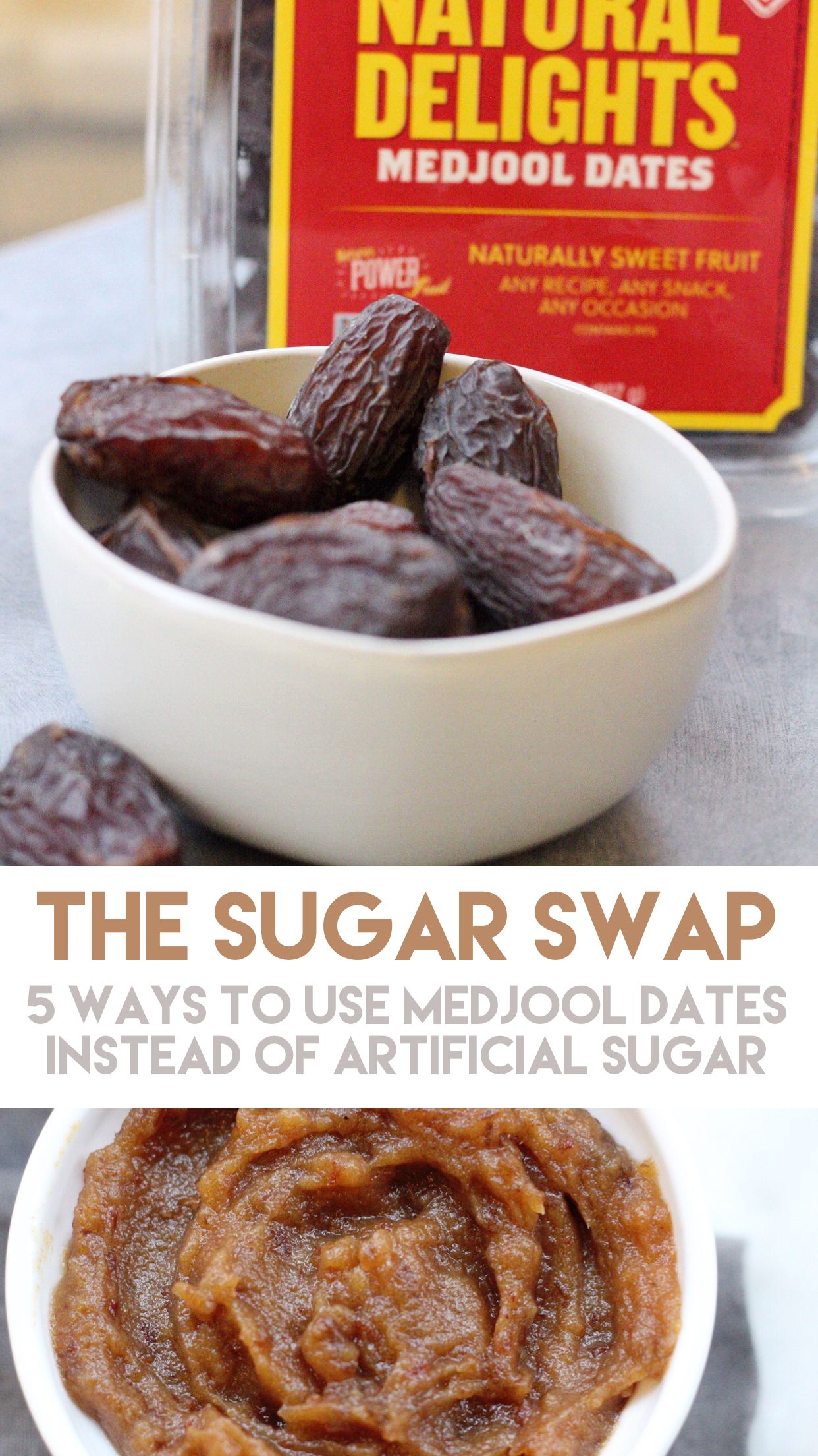 how to use medjool dates instead of sugar