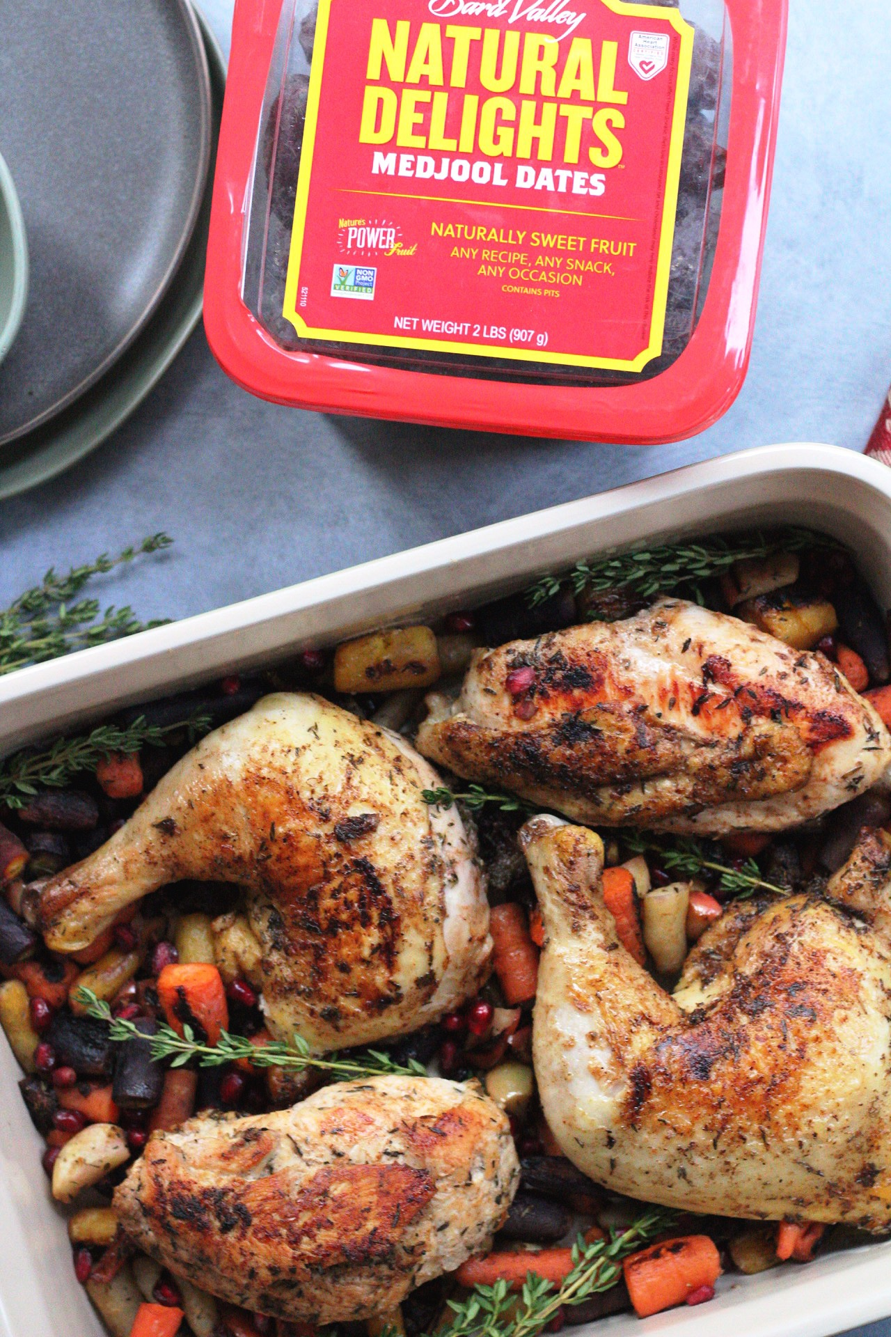 roasted chicken with medjool dates