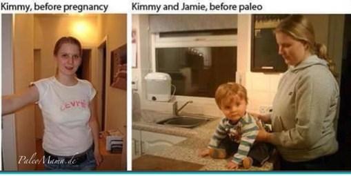 Kimmy und Jamie vor der Umstellung auf Paleo