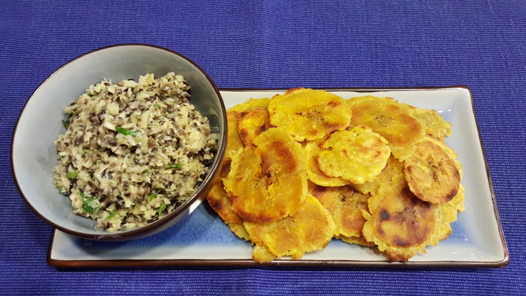 Tostones with Artichoke and Black Olice Tapenade
