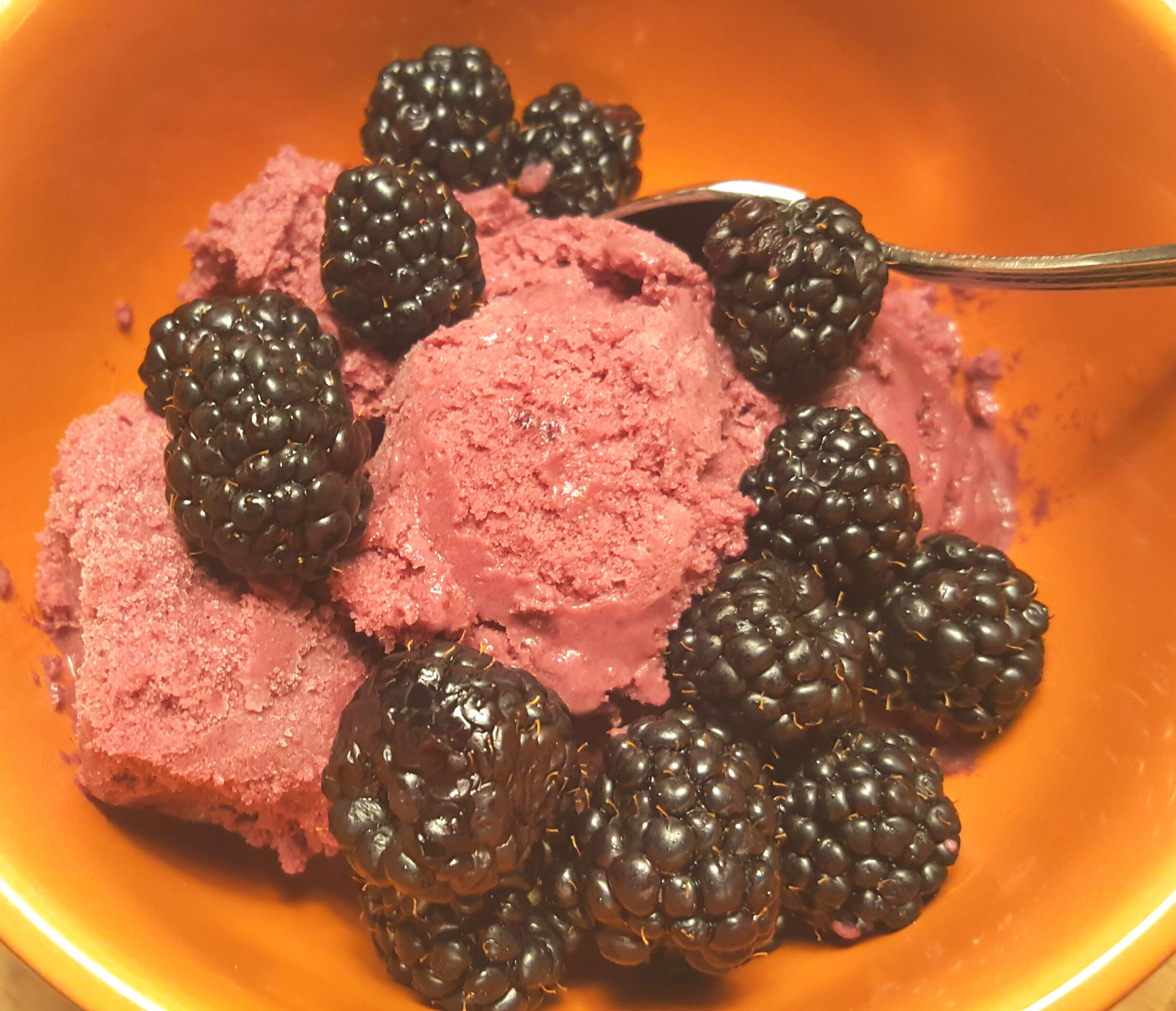 Blackberry Mango Ice Cream