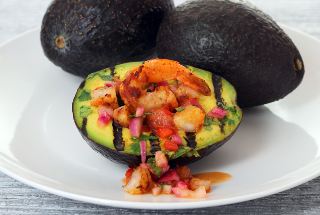 Grilled Avocado Shrimp Boat