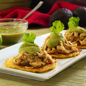 Paleo Green Chili Chicken Tostadas