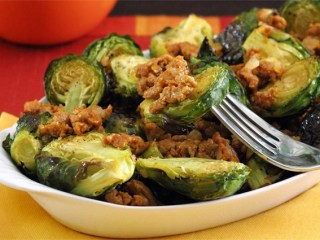Brussels Sprouts with Chorizo Paleo Recipe