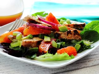 Baby Greens Salad with Crushed Orange Vinaigrette