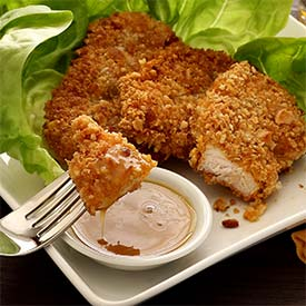 Paleo Macadamia-Crusted Chicken with Honey-Mustard Sauce Recipe