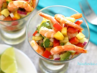 Easy Shrimp & Salsa Paleo Summer Salad