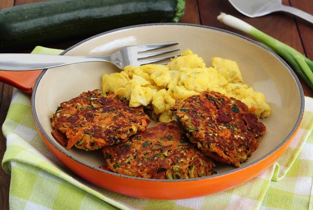 paleonewbie.com recipe bacon zucchini carrot fritters paleo recipe