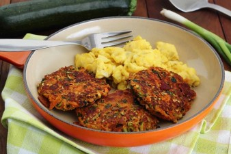 Paleo Bacon Zucchini Carrot Fritters