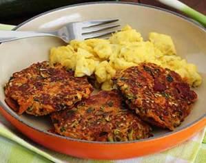 paleonewbie.com paleo recipe bacon zucchini carrot fritters
