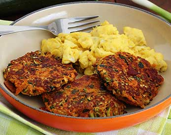 Paleo Bacon Zucchini Carrot Fritters Recipe