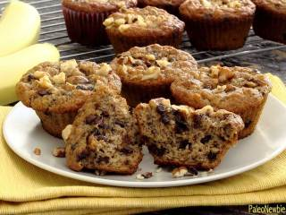 Paleo Banana Nut Chocolate Chip Muffins
