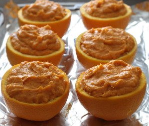 Paleonewbie.com paleo, gluten-free and dairy-free recipe for Orange-Maple Sweet Potatoes in Orange Cups