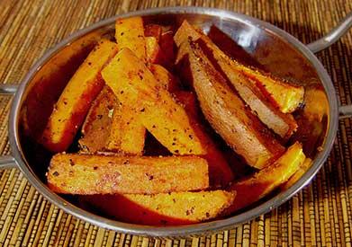 paleo recipe baked spicy sweet potato fries