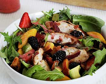 Chicken, Berry & Nectarine Salad w/Strawberry Vinaigrette