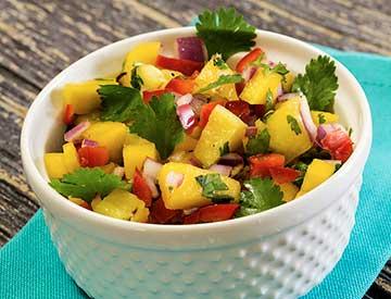easy paleo mango pineapple salsa recipe