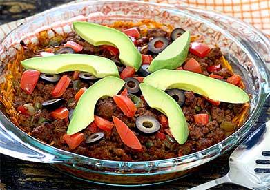Easy paleo recipe for taco casserole