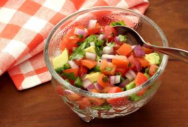 paleo recipe for the best avocado tomato salsa
