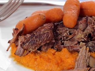 Paleo Pot Roast with Mashed Sweet Potatoes