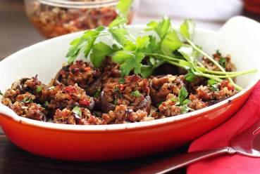Easy paleo recipe for stuffed mushroom apetizers
