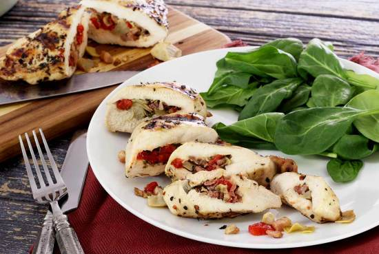 easy paleo recipe for baked stuffed chicken